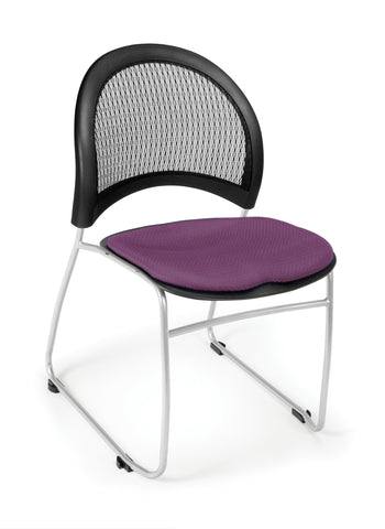 OFM 335-2214 Moon Stack Chair, Plum ; UPC: 845123005439 ; Image 1