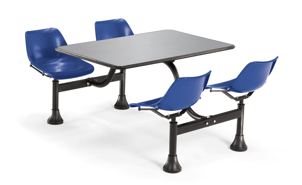"OFM Model 1005 Cluster Seating Table with 30"" Stainless Steel Top and Navy Seats ; UPC: 811588012275 ; Image 1"