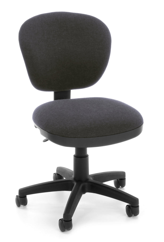 OFM Lite Use Model 150 Armless Computer Swivel Task Chair, Fabric, Gray ; UPC: 845123028971 ; Image 1