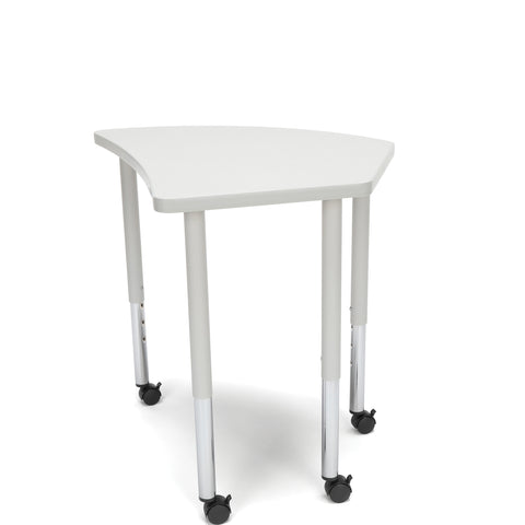 OFM Adapt Series Crescent Standard Table - 25-33? Height Adjustable Desk with Casters , Gray Nebula (CREST-LLC) ; UPC: 845123096550 ; Image 4