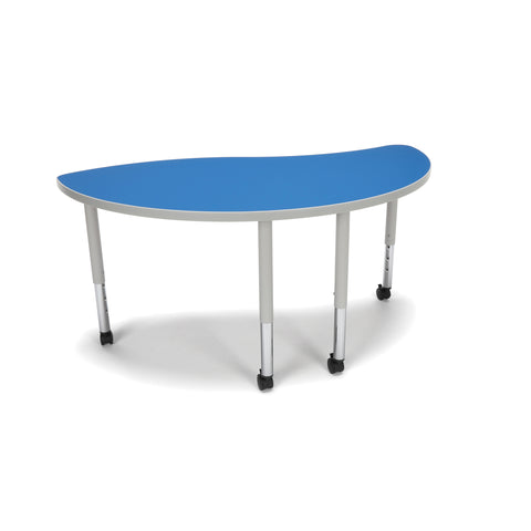 OFM Adapt Series Ying Student Table - 20-28? Height Adjustable Desk with Casters, Blue (YING-SLC) ; UPC: 845123096789 ; Image 1