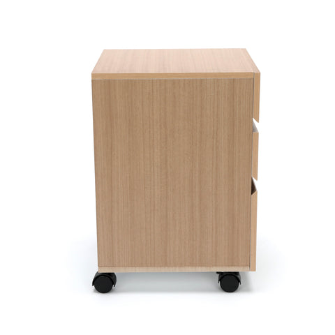 OFM Essentials 3-Drawer Wheeled Mobile Pedestal Cabinet, Harvest (ESS-1030-HVT) ; UPC: 845123090619 ; Image 4