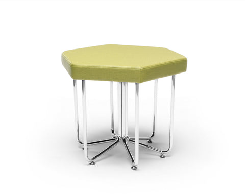 OFM 66-LEF Hex Series Stool with Chrome Frame ; UPC: 845123080023 ; Image 1