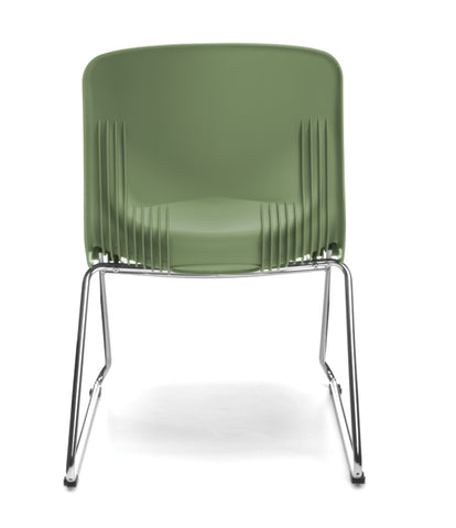 OFM Model 315 Multi-Use Stack Chair, Plastic Seat and Back, Olive ; UPC: 845123034774 ; Image 3