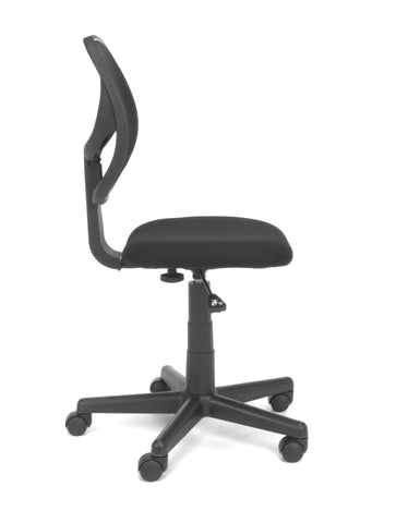 Essentials by OFM E1009 Armless Mesh Back and Fabric Task Chair, Black ; UPC: 845123032435 ; Image 4