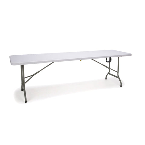 Essentials by OFM ESS-5096F 8' Blow Molded Center-Folding Utility Table, White ; UPC: 845123089231 ; Image 1