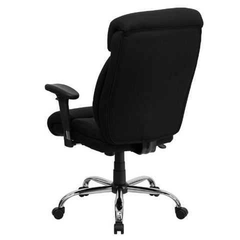Flash Furniture HERCULES Series Big & Tall 400 lb. Rated Black Fabric Executive Ergonomic Office Chair with Full Headrest and Arms GO1235BKFABAGG ; Image 3 ; UPC 847254033121