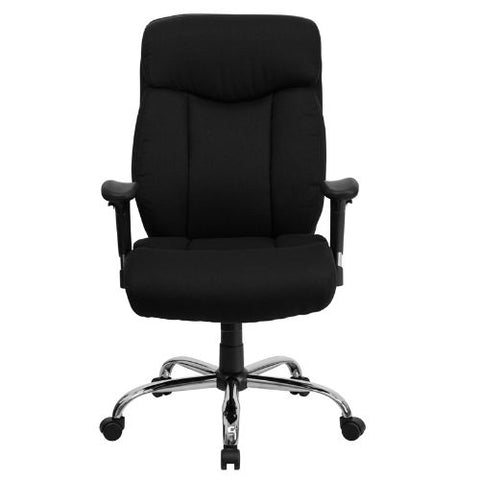Flash Furniture HERCULES Series Big & Tall 400 lb. Rated Black Fabric Executive Ergonomic Office Chair with Full Headrest and Arms GO1235BKFABAGG ; Image 4 ; UPC 847254033121