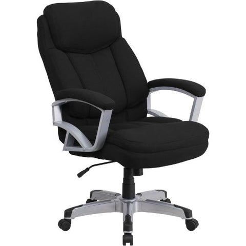 HERCULES Series 500 lb. Capacity Big & Tall Black Fabric Executive Swivel Office Chair FLAGO18501FABGG ; Front Image
