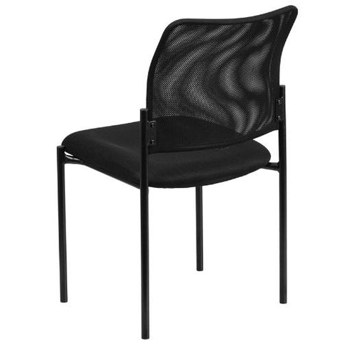 Flash Furniture Comfort Black Mesh Stackable Steel Side Chair GO5152GG ; Image 3 ; UPC 889142011712