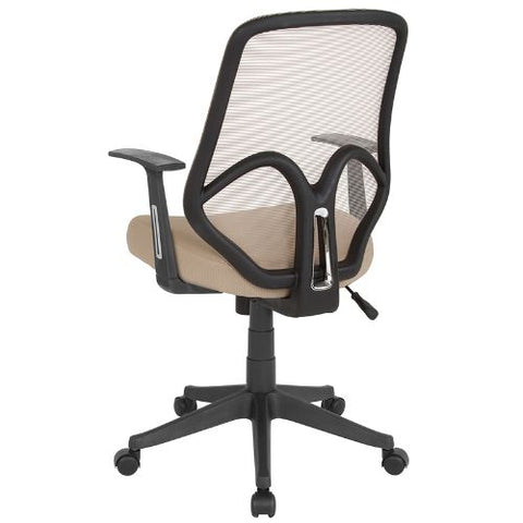Flash Furniture Salerno Series High Back Light Brown Mesh Office Chair with Arms GOWY193AALTBNGG ; Image 3 ; UPC 889142499619
