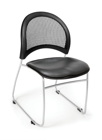 OFM Moon Series Model 335-VAM Anti-Microbial/Anti-Bacterial Vinyl Stack Chair, Charcoal ; UPC: 845123014509 ; Image 1