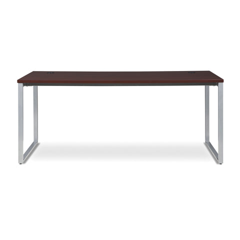 OFM Fulcrum Series 72x30 Desk, Minimalistic Modern Office Desk, Mahogany (CL-D7230-MHG) ; UPC: 845123097137 ; Image 2