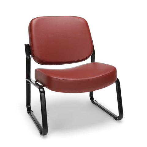 OFM Model 409-VAM Big and Tall Armless Guest and Reception Chair, Anti-Microbial/Anti-Bacterial Vinyl, Wine ; UPC: 845123028674 ; Image 1