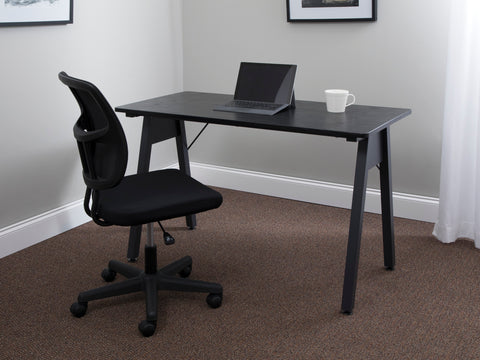 "OFM Essentials Collection 48"" Table Desk, Black Woodgrain (ESS-1050-BLK-BLK) ; UPC: 192767000123 ; Image 11"