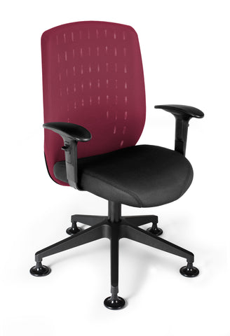 OFM Vision Executive Guest Chair - Mesh Back Conference Chair, Wine (655-2706) ; UPC: 845123005880 ; Image 1