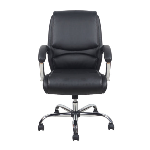 Essentials by OFM ESS-6070 Ergonomic High-Back Bonded Leather Executive Chair, Black with Chrome Finish ; UPC: 089191014010 ; Image 2
