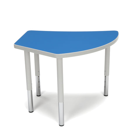 OFM Adapt Series Crescent Student Table - 18-26? Height Adjustable Desk, Blue (CREST-SL) ; UPC: 845123096260 ; Image 3