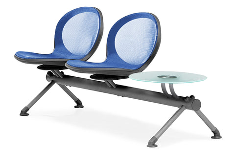 OFM NB-3G-MARINE Net Series Beam Seating with 2 Chairs and Single Table, Marine ; UPC: 845123026991 ; Image 1