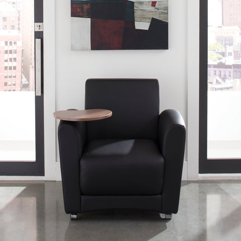 OFM InterPlay Series Single Seat Chair with Bronze Tablet, in Black (821-PU606-BRONZ) ; UPC: 845123031018 ; Image 11
