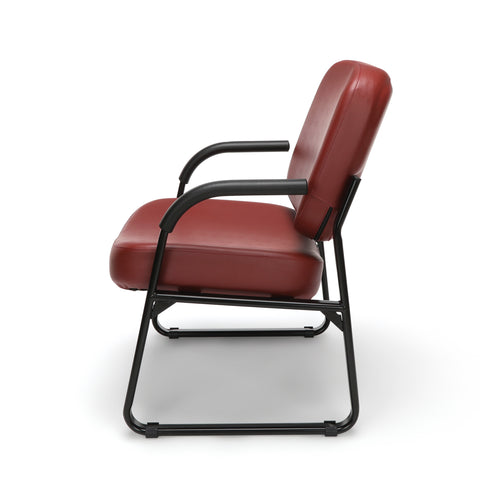 OFM Core Collection Big and Tall Guest and Reception Chair with Arms, Anti-Microbial/Anti-Bacterial Vinyl, in Wine (407-VAM-603) ; UPC: 845123028599 ; Image 5