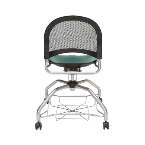 OFM Moon Foresee Series Chair with Removable Vinyl Seat Cushion - Student Chair, Teal (339-VAM) ; UPC: 845123094525 ; Image 3