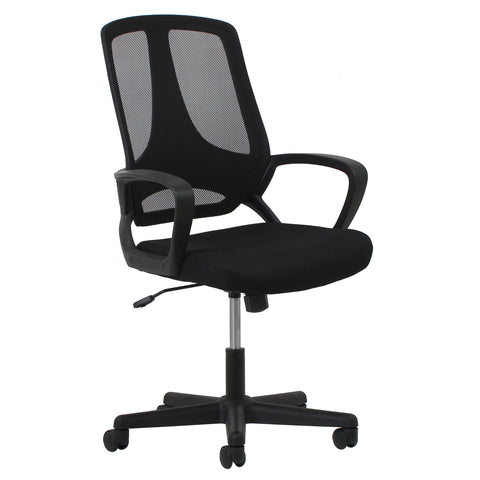 Essentials by OFM ESS-3040 Swivel Mesh High-Back Task Chair with Arms, Black ; UPC: 089191013624 ; Image 1