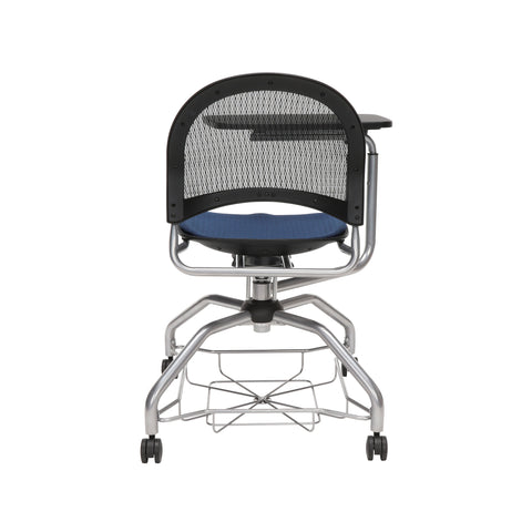 OFM Moon Foresee Series Tablet Chair with Removable Fabric Seat Cushion - Student Desk Chair, Navy (339T) ; UPC: 845123094594 ; Image 3