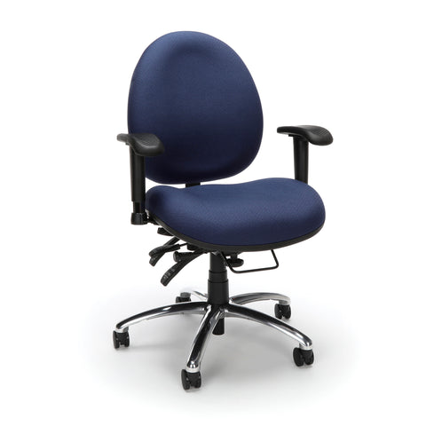 OFM 24 Hour Big and Tall Ergonomic Task Chair - Computer Desk Swivel Chair with Arms, Blue (247) ; UPC: 811588013012 ; Image 1