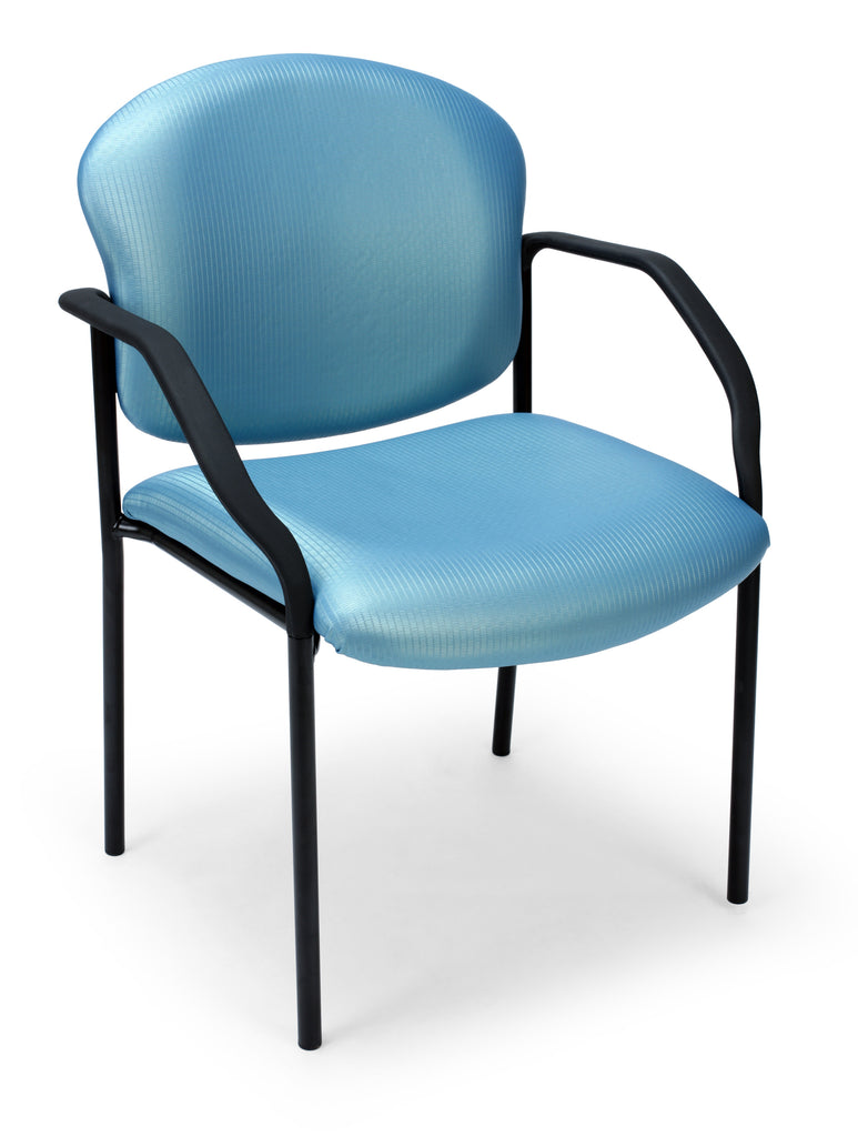 OFM Core Collection Elements Manor Series Guest/Reception Chair with Arms in River Blue ; UPC: 845123025987 ; Image 1