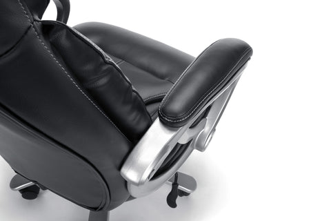 Essentials by OFM ESS-202 Big and Tall Leather Executive Office Chair with Arms, Black/Silver ; UPC: 845123080139 ; Image 8