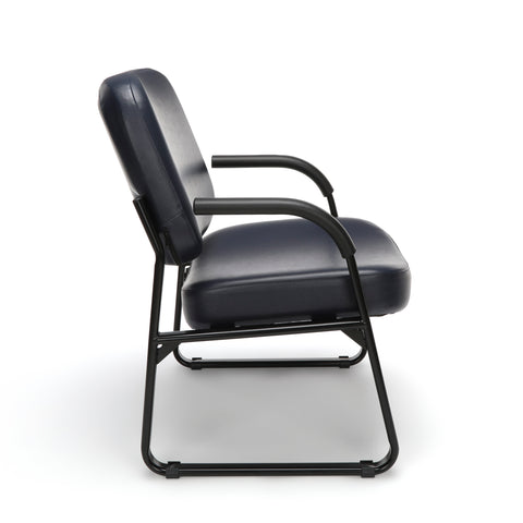 OFM Model 407-VAM Big and Tall Guest and Reception Chair with Arms, Anti-Microbial/Anti-Bacterial Vinyl, Navy ; UPC: 845123028612 ; Image 4
