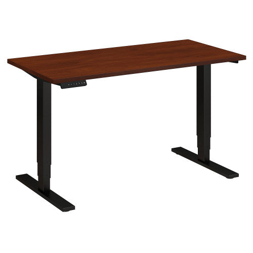 Bush Move 80 Series 48W x 24D Height Adjustable Standing Desk, Hansen Cherry HAT4824HCBK ; UPC: 042976017811 ; Image 1