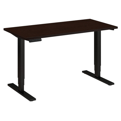 Bush Move 80 Series 48W x 24D Height Adjustable Standing Desk, Mocha Cherry HAT4824MRBK ; UPC: 042976017859 ; Image 1