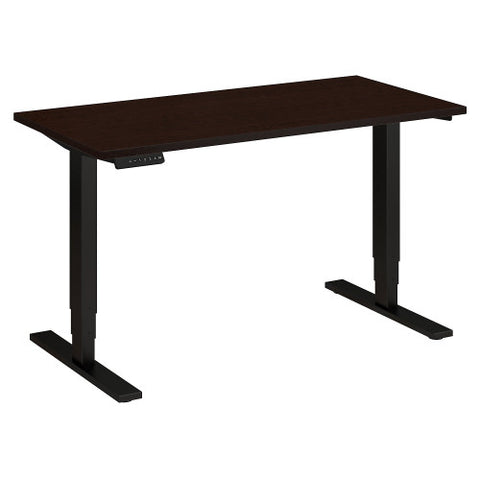 Bush Move 80 Series 48W x 24D Height Adjustable Standing Desk, Mocha Cherry Satin HAT4824MRSBK ; UPC: 042976017835 ; Image 1