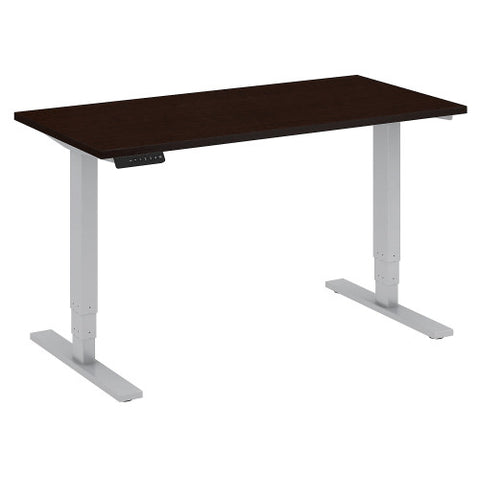 Bush Move 80 Series 48W x 24D Height Adjustable Standing Desk, Mocha Cherry Satin HAT4824MRSK ; UPC: 042976013776 ; Image 1