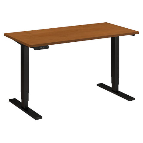 Bush Move 80 Series 48W x 24D Height Adjustable Standing Desk, Natural Cherry HAT4824NCBK ; UPC: 042976017897 ; Image 1
