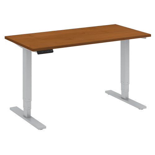 Bush Move 80 Series 48W x 24D Height Adjustable Standing Desk, Natural Cherry HAT4824NCK ; UPC: 042976013790 ; Image 1