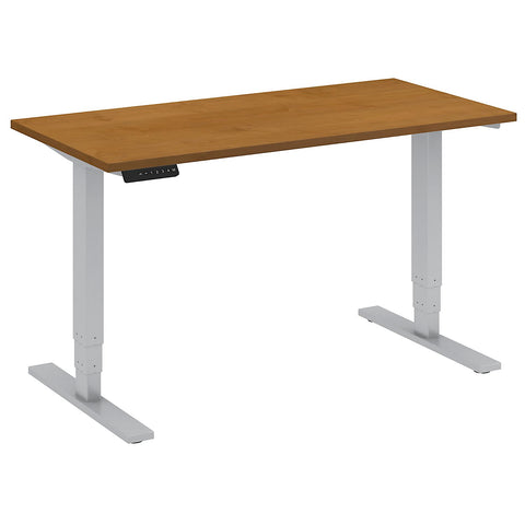 Bush Move 80 Series 48W x 24D Height Adjustable Standing Desk, Natural Cherry HAT4824NCK ; UPC: 042976013790 ; Image 5
