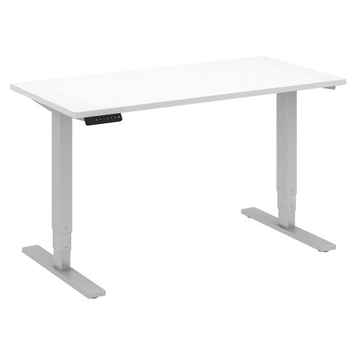 Bush Move 80 Series 48W x 24D Height Adjustable Standing Desk, White HAT4824WHK ; UPC: 042976013837 ; Image 1