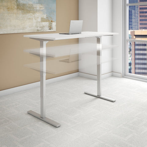 Bush Move 80 Series 48W x 24D Height Adjustable Standing Desk, White HAT4824WHK ; UPC: 042976013837 ; Image 2
