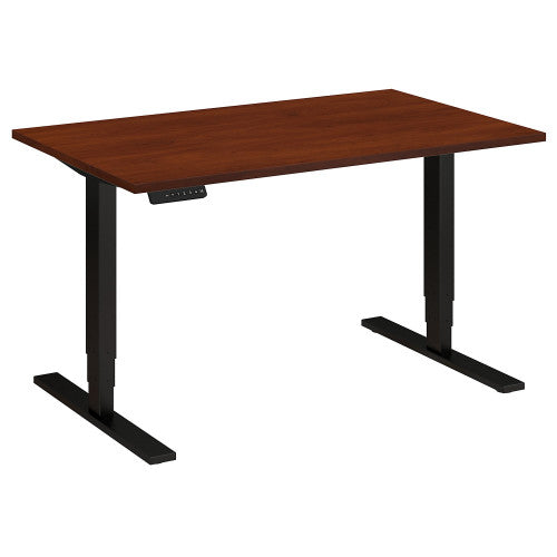 Bush Move 80 Series 48W x 30D Height Adjustable Standing Desk, Hansen Cherry HAT4830HCBK ; UPC: 042976013899 ; Image 1