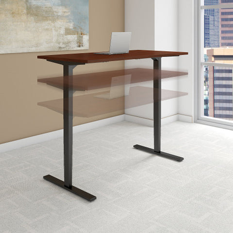 Bush Move 80 Series 48W x 30D Height Adjustable Standing Desk, Hansen Cherry HAT4830HCBK ; UPC: 042976013899 ; Image 2