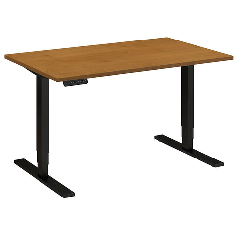Bush Move 80 Series 48W x 30D Height Adjustable Standing Desk, Natural Cherry HAT4830NCBK ; UPC: 042976014094 ; Image 5