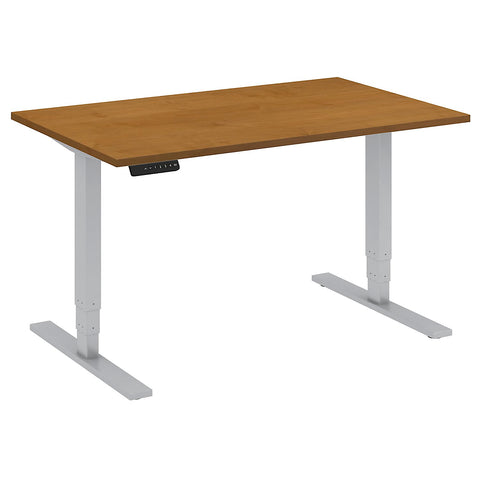 Bush Move 80 Series 48W x 30D Height Adjustable Standing Desk, Natural Cherry HAT4830NCK ; UPC: 042976014124 ; Image 5