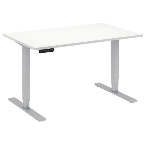 Bush Move 80 Series 48W x 30D Height Adjustable Standing Desk, White HAT4830WHK ; UPC: 042976014179 ; Image 1