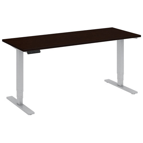 Bush Move 80 Series 60W x 24D Height Adjustable Standing Desk, Mocha Cherry Satin HAT6024MRSK ; UPC: 042976018382 ; Image 1