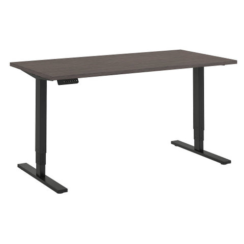 Bush Move 80 Series 60W x 30D Height Adjustable Standing Desk, Cocoa HAT6030COBK ; UPC: 042976074975 ; Image 1