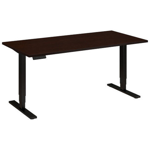 Bush Move 80 Series 60W x 30D Height Adjustable Standing Desk, Mocha Cherry Satin HAT6030MRSBK ; UPC: 042976014391 ; Image 1