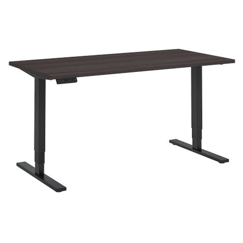Bush Move 80 Series 60W x 30D Height Adjustable Standing Desk, Storm Gray HAT6030SGBK ; UPC: 042976074067 ; Image 1